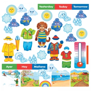 WALLY THE WEATHER DOG FLANNELBOARD  SET