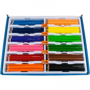 TRIANGULAR COLORED PENCIL SCHOOL PK  MAPED