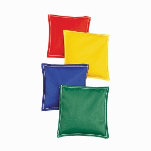 BEAN BAGS 5.75X5.75 12PK CLOTH CVR  PLASTIC BEAD FILLING