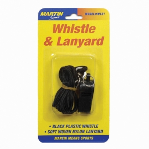 WHISTLE & LANYARD NO P20 & LANYARD  ON BLISTER CARD