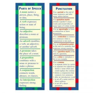 Parts of Speech & Punctuation Smart Bookmarks