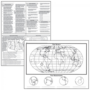 ACTIVITY POSTERS BASIC MAP SKILLS  17X22 30 SHTS