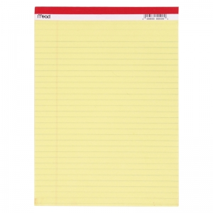 LEGAL PAD 8.5X11.75 50 CT CANARY