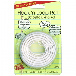 "Hook 'n Loop, 3/4"" x 30"" Roll"