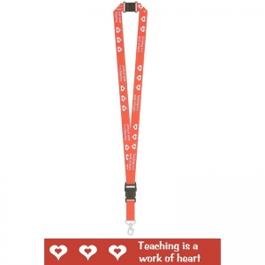 TEACHER LANYARDS TEACHING IS A WORK  OF HEART
