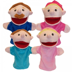 FAMILY BIGMOUTH PUPPETS CAUCASIAN  FAMILY OF 4
