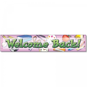 WELCOME BACK BANNER