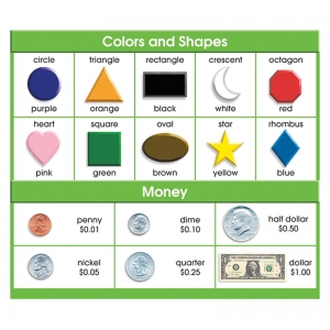 ADHESIVE DESK PROMPTS COLORS SHAPES  MONEY