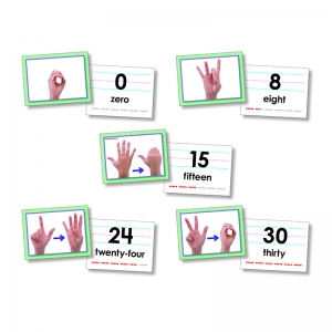 American Sign Language Cards, Number 030