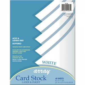 WHITE CARD STOCK 40 SHEET