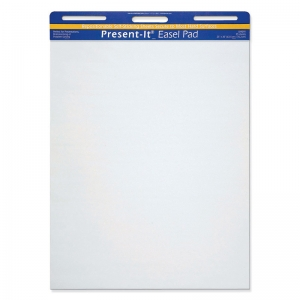 The Present-It Easel Pad, Self-Adhesive, White