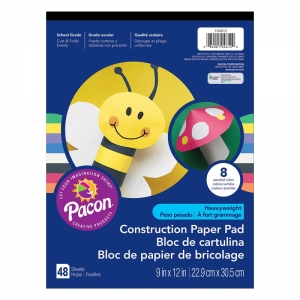 CONSTRUCTION PAD HW 9X12 ASST 48CT
