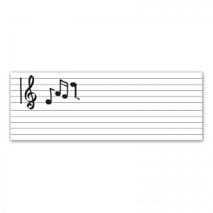 "GoWrite! Dry Erase Music Staff Roll, Self-Adhesive, Music Staff, 17"" x 4', 1 Roll"