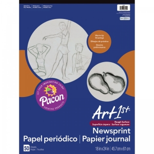 ART1ST NEWSPRINT PAD 18X24 50 SHT