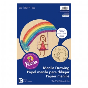 MANILA DRAWING PAPER 12X18 50CT