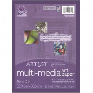 "Art1st Mixed Media Art Paper, Heavyweight, 9"" x 12"", 60 Sheets"