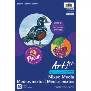 "Art1st Mixed Media Art Paper, Heavyweight, 12"" x 18"", 60 Sheets"