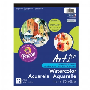"Art1st Watercolor Pad, 90 lb., 11"" x 14"", 12 Sheets"