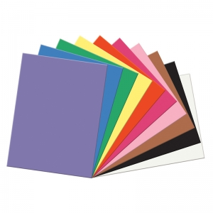 "SunWorks Construction Paper, 10 Assorted Colors, 9"" x 12"", 100 Sheets"