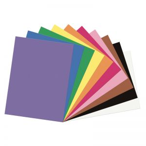 Construction Paper, 10 Assorted Colors, 200 Sheets Per Pack , 6 Packs
