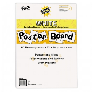 SUPER VALUE POSTER BOARD ALL WHITE