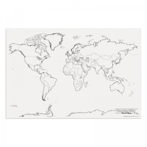GIANT WORLD MAP 48IN X 72IN