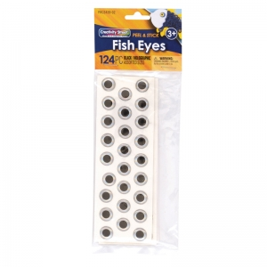 Fish Eyes, Holographic, Assorted Sizes, 124 Pieces