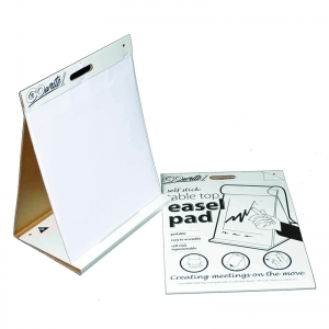 "GoWrite! Table Top Easel Pad, Self-Adhesive, White, 20"" x 23"", 25 Sheets"