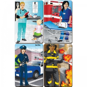 OCCUPATIONS SET OF 4 TRAY PUZZLES
