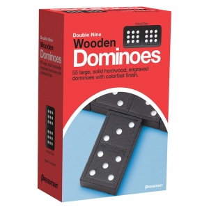 Double Nine Wooden Dominoes Game