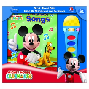 BOOK BOX AND MODULE MICKEY MOUSE  CLUBHOUSE MICROPHONE