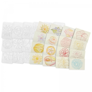 Roylco� Flowers Rubbing Plates, 16/Pack