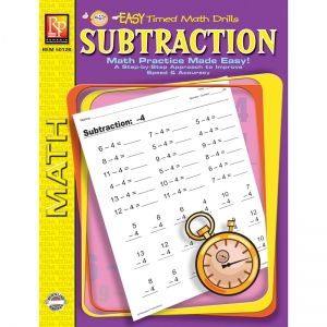 EASY TIMED MATH DRILLS SUBTRACTION