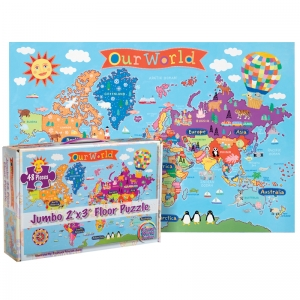 WORLD FLOOR PUZZLE FOR KIDS