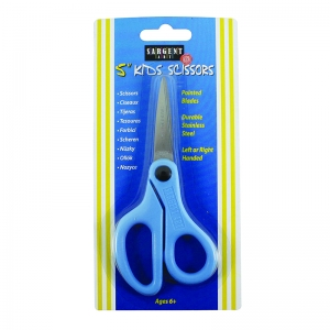 CHILDS SAFETY SCISSORS 5 IN POINTED  TIP LEFT OR RIGHT HANDED