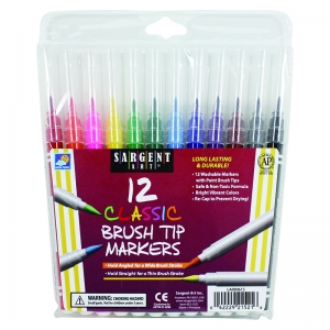 SARGENT ART 12CT CLASSIC BRUSH TIP  MARKERS