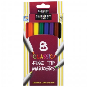 SARGENT ART CLASSIC MARKERS FINE  TIP 8 COLORS