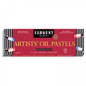 SARGENT 25CT REGULAR OIL PASTELS