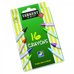 SARGENT ART CRAYONS 16 COUNT TUCK  BOX