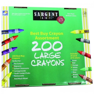 SARGENT ART LARGE CRAYONS 200 LARGE  SIZE
