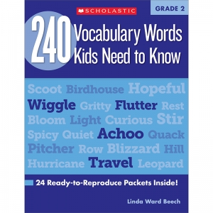 240 VOCABULARY WORDS KIDS NEED TO  KNOW GR 2
