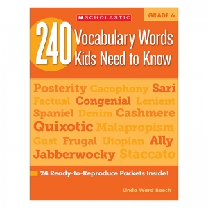 240 VOCABULARY WORDS KIDS NEED TO  KNOW GR 6