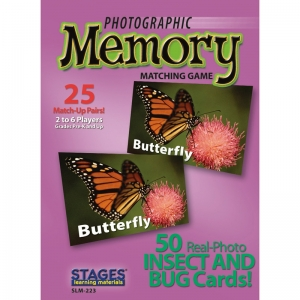 INSECTS & BUGS PHOTOGRAPHIC MEMORY  MATCHING GAME
