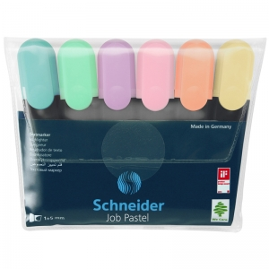 Pastel Job Highlighters, Pack of 6
