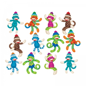 SOCK MONKEYS PATTERNS ACCENTS  VARIETY PACK