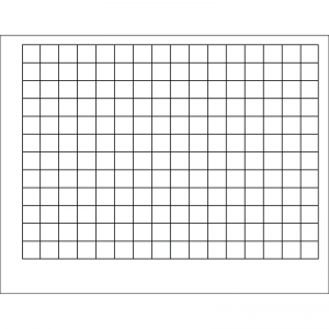 WIPE-OFF CHART GRAPHING GRID 1-1/2  INCH SQUARES 22 X 28