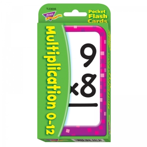 Multiplication 012 Pocket Flash Cards
