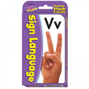 POCKET FLASH CARDS SIGN LANGUAGE  56-PK 3X5 TWO-SIDED CARDS