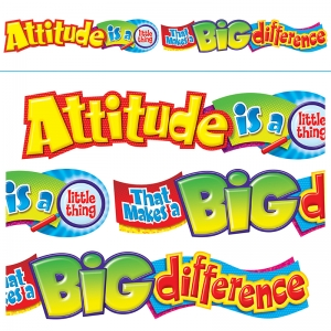 ATTITUDE IS A LITTLE THING 10FT  HORIZONTAL BANNER