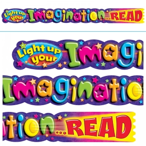 LIGHT UP YOUR IMAGINATION READ 10FT  HORIZONTAL BANNER
